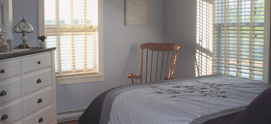 Interior photo of second bedroom.